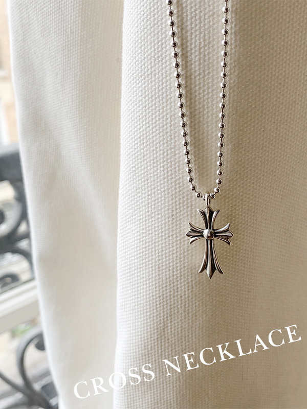 Cross long necklace
